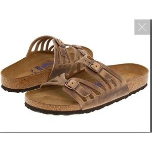 Birkenstock Granada oiled leather sandals